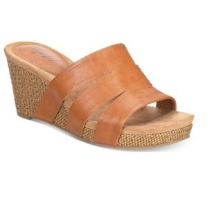 Style & Co Slip-On Platform Wedge Sandals